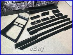Bmw E38 iL Interior Trim Set Vvivid Vinyl 4D True R Black Carbon Fiber