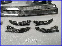 Bmw E90 E91 M3 Black Real Carbon Fibre Custom Interior Trim Set