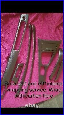 Bmw e90 /e91 idrive interior trim wrap with carbon fibre. (WRAPPING SERVICES)