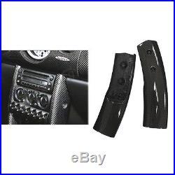 Carbon Fiber Console Post Interior Trims for Mini Cooper S R50 R52 R53 2001-2006