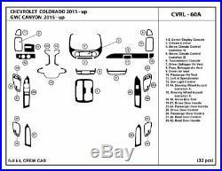 Carbon Fiber Dash Trim Kit for CHEVROLET COLORADO 2015-2020 Crew cab interior