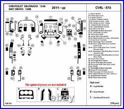 Carbon Fiber Dash Trim Kit for Chevrolet Silverado 1500 / Sierra 1500 2014-2019
