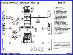 Carbon Fiber Dash Trim Kit for Dodge Charger / Magnum 4 speed shifter 2008-2010
