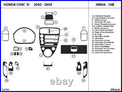 Carbon Fiber Dash Trim Kit for Honda Civic SI 2002-2005 Interior Dashboard