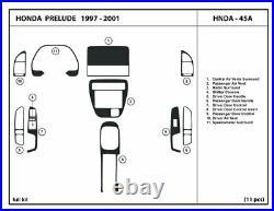 Carbon Fiber Dash Trim Kit for Honda Prelude 1997 -2001 Interior Overlay