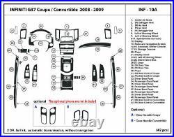 Carbon Fiber Dash Trim Kit for Infiniti G37 2008-2009 without Navigation Coupe