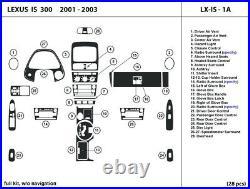 Carbon Fiber Dash Trim Kit for Lexus IS300 2001-2003 without navigation Interior