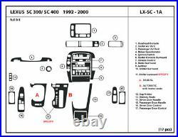 Carbon Fiber Dash Trim Kit for Lexus SC300/400 1992-1997 Interior Overlay