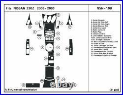 Carbon Fiber Dash Trim Kit for NISSAN 350Z with manual shifter 2003-2005 NSN-10B