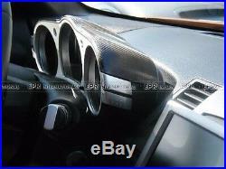 Carbon Fiber Dial Dash Trim Mouldings Interior Cover Fit For Nissan Z33 350Z