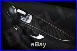 Carbon Fiber Fibre interior trim kit for Mercedes C63 2015+ W205 -FREE SHIPPING