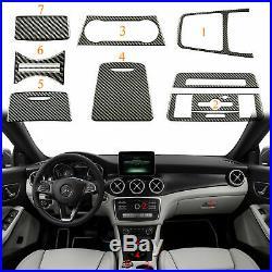 Carbon Fiber Interior Trim Cover Sticker Package for Mercedes Benz 13-18 CLA GLA