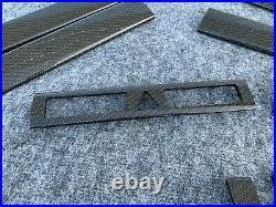 Carbon Fiber Interior Trim Dash Door Panel Console 2002-2004 Audi A6 S6 Rs6 C5