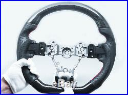 Carbon Fiber Leather Red Stitching Steering Wheel for 2015-2020 SUBARU WRX STI