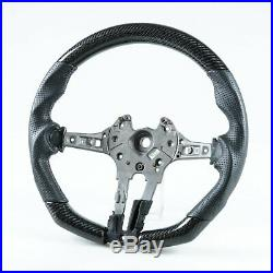 Carbon Fiber Perforated Leather Steering Wheel For BMW F80 M3 F82 M4 2014up