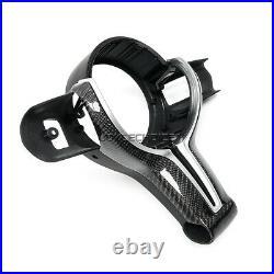 Carbon Fiber Steering Wheel Trim For BMW 1 3 4 F20 F30 F32 F10 F12 F25 M SPORT