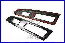 Carbon Fiber for Subaru WRX STI 4th 4D Interior Window Switch Panel Cover Trim