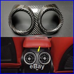 Carbon For Alfa Romeo Giulia 2017-2020 Interior Trim Rear Seat Air AC Vent Cover