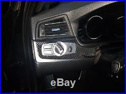 Carbon fiber interior trim set for BMW 5 series F10 and F11