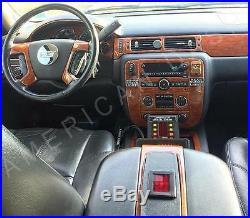Chevrolet Chevy Avalanche Ls Lt Z71 Interior Wood Dash Trim Kit 2007 2008 2009