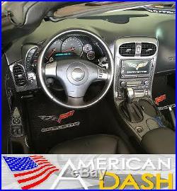 Chevrolet Chevy Corvette C6 C 6 Interior Real Black Carbon Fiber Dash Trim Kit