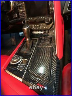 Chevrolet Corvette C-7 Interior Real Carbon Fiber Dash Trim Kit 2014 2015 2016