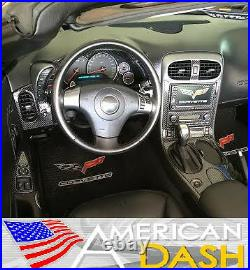 Chevrolet Corvette C6 Interior Real Carbon Fiber Dash Trim Kit 2011 2012 2013