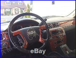 Chevrolet Tahoe Suburban Ls Lt Ltz Interior Wood Dash Trim Kit 2007 07 2008 2009
