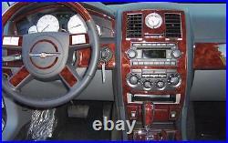 Chrysler 300 300c 2.7l 3.5l Hemi Interior Wood Dash Trim Kit Set 2005 2006 2007