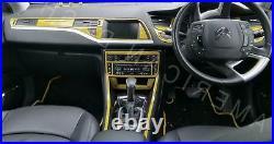 Citroen C-5 C5 Mk III Interior Carbon Fiber Dash Trim Kit 09 2010 2011 2012 2013