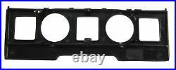 Clock+Terrain dash panel fascia Black carbon fiber Range Rover L322 interior