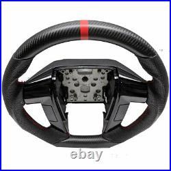 Custom 2011-2014 Ford F150 Steering Wheel -DRY MATTE REAL Carbon Fiber /Leather