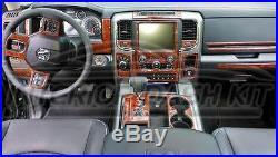 Dodge Ram 1500 2500 3500 Interior Burl Wood Dash Trim Kit Set 2013 2014 2015