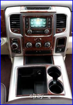 Dodge Ram 1500 2500 3500 Interior Burl Wood Dash Trim Kit Set 2016 2017 2018