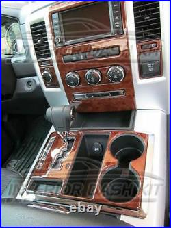 Dodge Ram 1500 2500 3500 Interior Wood Dash Trim Kit Set 2009 09 2010 2011 2012