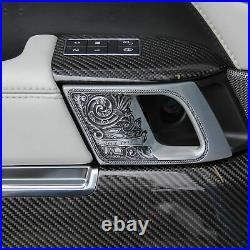 Door panel trim Carbon Fibre interior for Range Rover Sport L494 SVR fiber