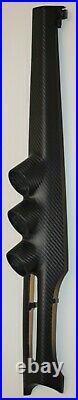 Evo X 08+ Center Interior Trim with 3 52mm Gauge Pods LHD 100% Carbon Fiber Matte