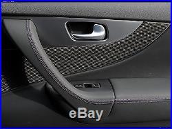 FX/QX70 carbon fiber LINING interior DOORS 4 pc Vettel style