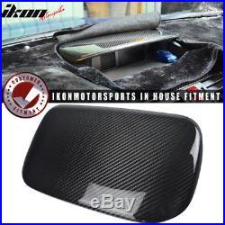Fits 15-18 Subaru WRX STI Center Top Carbon Fiber Dash Panel Console Hood Cover