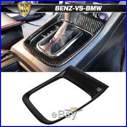 Fits 15-18 Subaru WRX STI Front Gear Shift Shifter Cover Trim Carbon Fiber CF