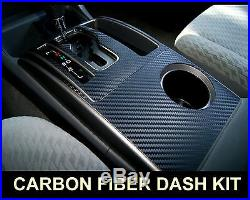 Fits Jeep Wrangler 07-10 Carbon Fiber Interior Dashboard Dash Trim Kit Parts FRE