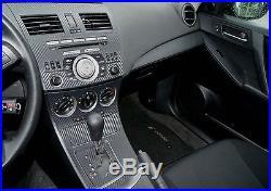 Fits Mazda 3 10-12 Carbon Fiber Interior Dashboard Dash Trim Kit Parts FREE S&H