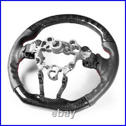 Flat Sport Steering Wheel Carbon Drilling Learther For Mazda 2 3 CX-3 CX-5 MX-5
