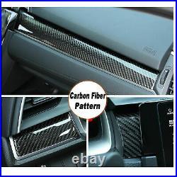 For 2016+ Honda Civic Carbon Fiber Center Dashboard Cover Trim Sticker Decor