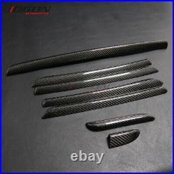 For Audi A3 S3 RS3 14-18 LHD Carbon Fiber Interior Door Console Panel Trim Strip