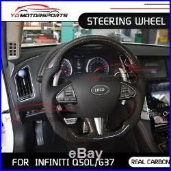 For Infiniti G37 Q50L carbon Fiber Steering Wheel Replacement interior trim