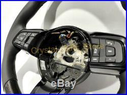 For Jaguar F-Type XF 2017+ Steering Wheel Carbon Fiber Black Leather Interior