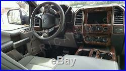 Ford F-150 F150 Crew Extended Cab Interior Wood Dash Trim Kit Set 2015 2016 2017