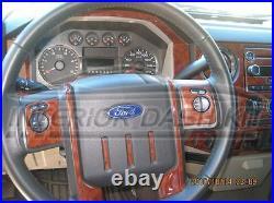 Ford F250 F-250 F350 F-350 Super Duty Interior Wood Dash Trim Kit Set 2011 2012