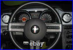 Ford Mustang 05 2006 2007 2008 2009 Real Carbon Fiber Interior Dash Trim Kit Set